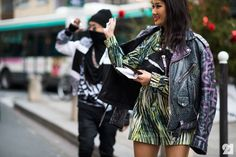 Japanese DJ and rappers in France KENZO streetstyle