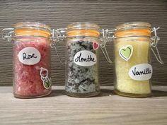 Trios de sels du bain pour se faire du bain: menthe, rose, vanille - La Fabrique DIY, premier site collaboratif de tutoriels DIY