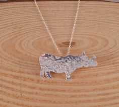 Sterling Silver Textured Rhino Necklace £10.00