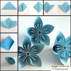 Diy paper flowers for weddings elizabeth anne designs origami japanese kusudama flower fold each petal how to make mightylinksfo