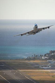 KLM 747 @ #SXM #TNCM