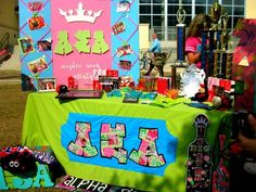 Banners / Posters | Alpha Sigma Alpha | Bright table display #greek #sorority #recruitment