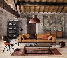 Living Room Designs Inspiration - 35 Best Modern Rustic Living Room Decor Ideas You Need To Design Example. Industrial Interior Design, Industrial Interiors, Home Interior, Industrial Style, Industrial Shop, Industrial Shelving, Industrial Restaurant, Industrial Bedroom, Industrial Furniture
