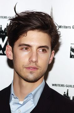 He's a self-professed shy guy.  WHY are you not mine, Milo Ventimiglia??