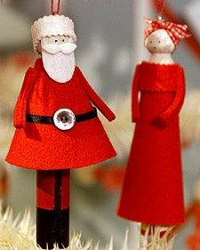 Clothespin Doll Ornaments   Step-by-Step   DIY Craft How To's and Instructions  Martha Stewart