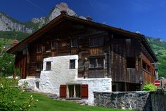 Bethlehem-Haus, Schwyz, Switzerland. Built in 1287, Bethlehem House is the oldest wooden house in Europe.