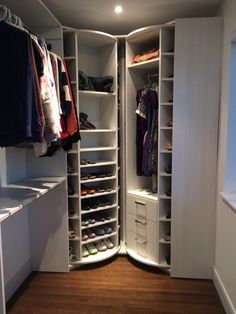 """The """"Valet"""" and the """"Woman's Dream"""" an innovative closet design to dramatically increase your storage capacity."""