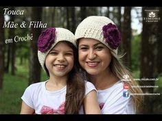 Gorro/Touca de Crochê Mãe e Filha - Professora Simone