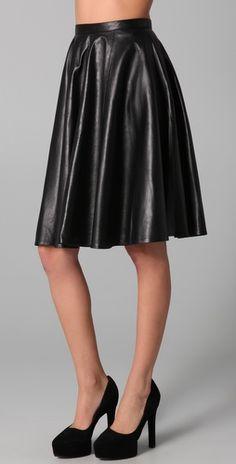 Kelly Bergin    Leather Circle Skirt  Style #:KELYB20020  $668.00