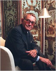 Albert Hadley was a renowned interior designer whose brave and creative eye, distilling both classic and contemporary styles, made him a standard-bearing decorator for the rich and powerful in American society. Mr. Hadley died on March 29, 2012, in Nashville. He was 91.