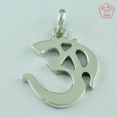 Lord Shiva Om 925 Sterling Silver Pendant S.5 cm P2654 #SilvexImagesIndiaPvtLtd…