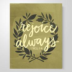 """Rejoice Always"" art print – She Reads Truth"
