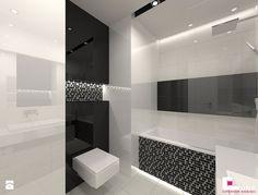Mieszkanie 69 m2 w Siedlcach - Średnia łazienka w bloku bez okna, styl nowoczesny - zdjęcie od CUBE Interior Design