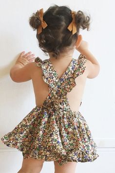 Handmade bows and dresses - so sweet!