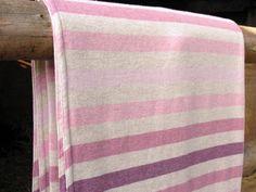Location: Home / Homewares / Blankets /Pink Striped Blanket
