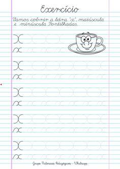 Blog Educação e Transformação: 👍Caligrafia: alfabeto e números France, Libra, Lettering, Writing, Letter E Activities, Letter Recognition, Spanish Language, Cursive, Kids