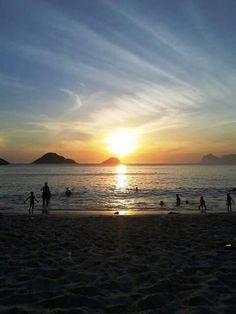 Praia de Itaipu em Niterói, RJ