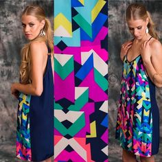 Alice & Trixie Silk Racer back Geometric dress Like new and sold out everywhere! 100% silk. Perfect for a night out or for the beach.Geometric print on the front and a deep rich navy back Alice & Trixie Dresses