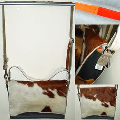 Big Cow Bag made from left-over leather and second-hand cowskin carpets. A musthave!