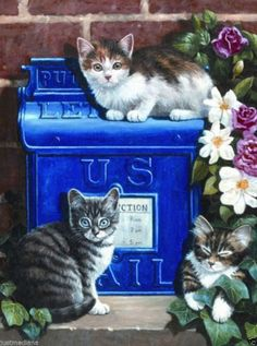 "Royal & Langnickel 8 3/4""x11 3/4"" Pre-Printed Paint by No-PJS59 Mailbox Kittens  - $11.99 - Re-list April 25, 2014 - #FreeShipping"