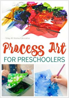 Why You Need to Plan STEAM Activities for Preschool The A in steam! The best process art acivities for preschoolers. many of these are science activities for preschoolers, too! Process Art Preschool, Preschool Painting, Preschool Art Projects, Preschool Arts And Crafts, Preschool Art Lessons, Preschool Ideas, Steam For Preschool, Art Center Preschool, Teach Preschool