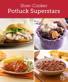 Impressive serving sizes, minimal effort and maximum satisfaction—these slow-cooker crowd-pleasers are our top picks for your next potluck (and the ones we'll be using all summer long!).