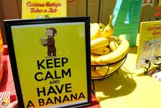 A curious george party on a budget, with TONS of free printables!