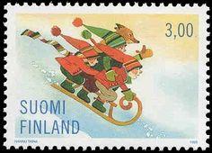 Joulupostimerkki 1998 2/3 - Kelkkamäessä