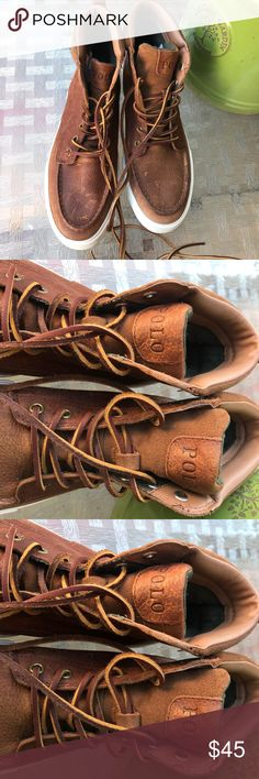 POLO Ralph Lauren Boots Size 8💯 POLO Ralph Lauren Boots Size 8💯 Brand new without tags, I got them for my Husband but he prefers sneakers 😔reason why I letting them go 😊😊 Polo by Ralph Lauren Shoes Boots