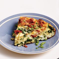 Spinach, Ham, and Gruyère Frittata Crispy proscuitto, caramelized onions, and shredded Gruyere meld together beautifully in this decadent dish.