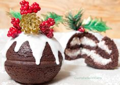 Chocolate and Mascarpone Christmas Balls Sweet recipe- Palline di Natale Cioccolato e Mascarpone Christmas Dishes, Christmas Sweets, Christmas Balls, Christmas Cookies, Cake Cookies, Cupcakes, Gooey Butter Cookies, Xmas Food, Sweet Cakes