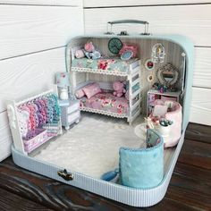 10 Miniature Scene Dollhouse By Olgamokriskaya Miniature Rooms, Miniature Crafts, Miniature Houses, Miniature Furniture, Dollhouse Furniture, Doll House Crafts, Doll Crafts, Doll Houses, Barbie Furniture