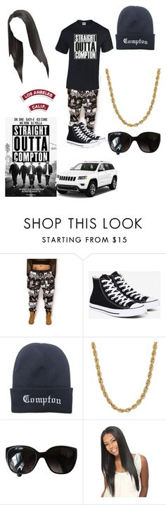 """straight outta compton"" by edatgirl ❤ liked on Polyvore featuring Converse and Chanel"