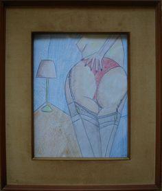 Für die Stockings und Nylons Liebhaber/rinnnen wie ich. Meine eigene Kunst : CHE BEL CULO. Verkauft. Zur Zeit meine Kunst auch auf ebay.de unter:  http://www.ebay.de/sch/i.html?_from=R40&_trksid=p2050601.m570.l1313.TR2.TRC1.A0.H0.XEYF-ART.TRS0&_nkw=EYF-ART&_sacat=0