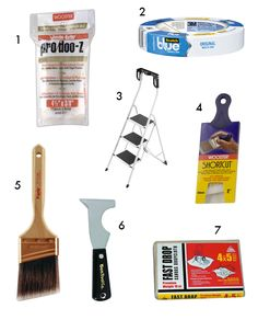 painting tips and supplies
