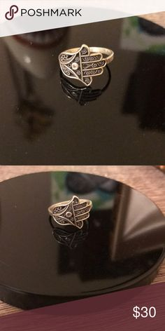 Hand of Fatima Sterling silver ring Size 7. Real Sterling Silver. Jewelry Rings