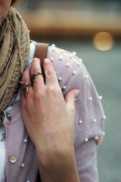 pretty pearl sweater
