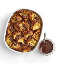Food Network Magazine - DOUBLE CHOCOLATE CROISSANT BREAD PUDDING