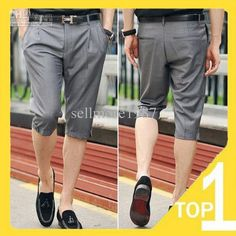 Free shipping 2013 New summer men's fashion half pants casual half slim trousers