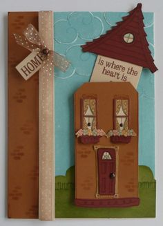 by Sherri Tozzi - you have to lift the roof off to see the sentiment on this card!
