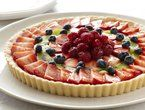 """Limoncello and Lemon Cream Fruit Tart --saving this for the lemon """"pastry cream"""" part Read more at: http://www.foodnetwork.com/recipes/rachael-ray/limoncello-and-lemon-cream-fruit-tart-recipe2/index.html?oc=linkback"""