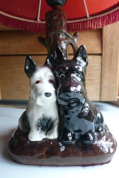 Vintage Scottie Dog Lamp