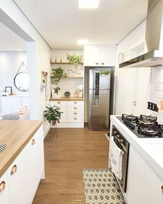 Home Room Design, Home Decor Kitchen, Home N Decor, Apartment Interior, Kitchen Decor, Interior Design Kitchen, Kitchen Inspiration Design, Kitchen Room Design, Interior Design Living Room