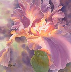 Reiko Hervin ~ Celestial Iris ~ Watercolor