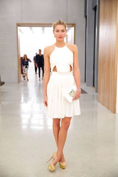 Jessica Hart at Stefano Tonchi and Vionnet's Art Basel party. Jessica Hart, Dresses 2013, Nice Dresses, Summer Dresses, Party Dresses, Celebrity Dresses, Celebrity Style, Mein Style, Vogue