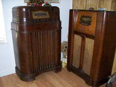 """Vintage Radios.  Brings back memories, coloring while laying on my stomach, in front of the radio, listening to""""Uncle Bob and the Squrriel Cage""""  in Portland Oregon"""