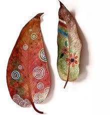 hojas pintadas - Buscar con Google