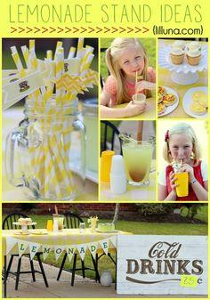 Easy Lemonade Stand { lilluna.com }
