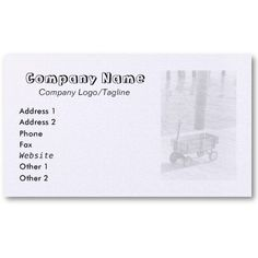 VINTAGE WAGON BUSINESS CARD, by The Flying Pig Gallery on Zazzle (lizadeyphoto) - This Vintage Wagon Business Card is perfect for Toy Stores and many other child-related businesses. Also good for summer vacation related businesses, among many others. Text may be customized according to your needs.