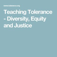 OWL 9 Sexual Orientation: Teaching Tolerance - Diversity, Equity and Justice